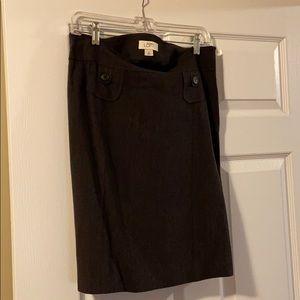 Ann Taylor Loft Size 8 Skirt dark grey/blue